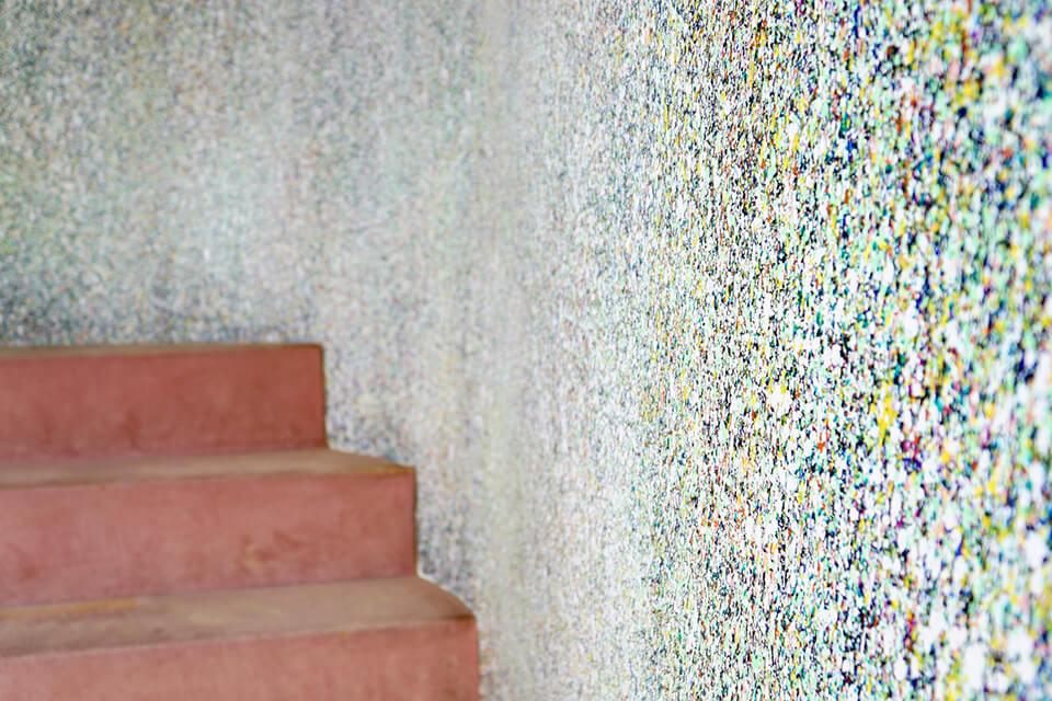 「WM」<br /> 2016<br /> 壁面約100m² detail<br /> acrylic direct on wall<br /> 湯郷グランドホテル「白菊の間」/岡山