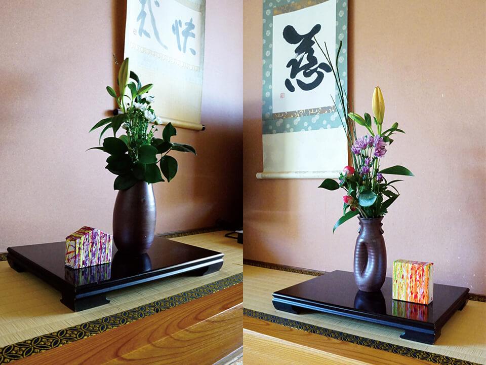 「uchiuchi WM」<br /> 2016<br /> 8×10×3.5cm <br /> acrylic on canvas,original panel<br /> 湯郷グランドホテル 全客室74室の床の間に展示/岡山