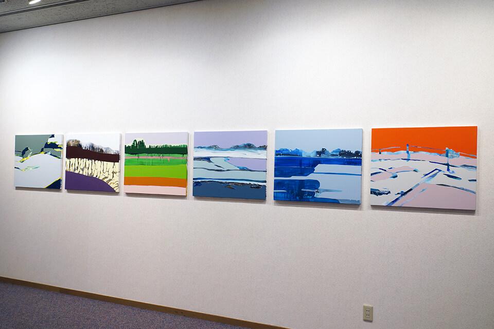 「wandering」<br /> 2011-2012<br /> 60.6×72.7×3cm<br /> acrylic on canvas