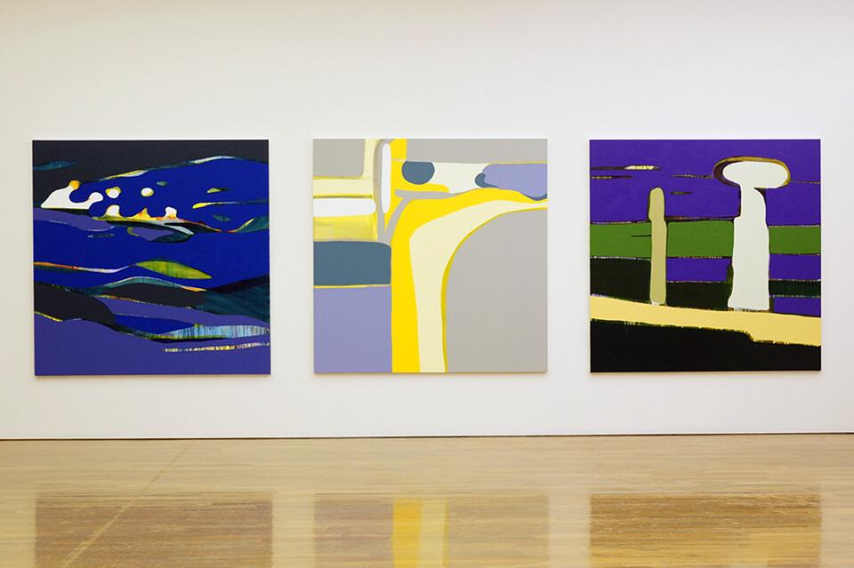 「night wandering」<br /> 2011-2012<br /> 162×162×4cm<br /> acrylic on canvas