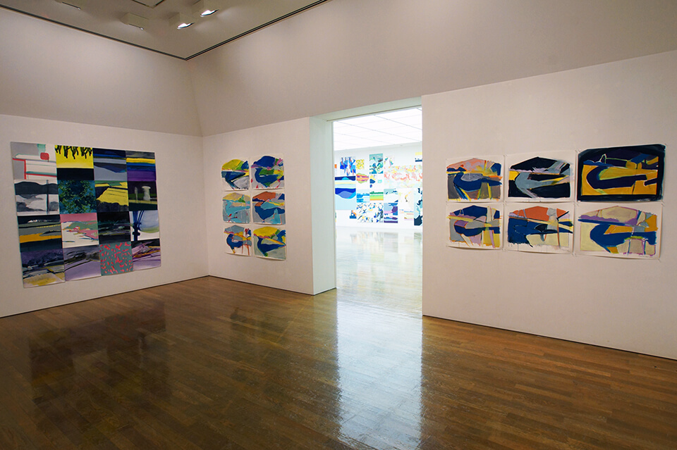 「wandering~色・時・旅、記憶の記録~」<br /> 2012<br /> Exhibition site view<br /> 2005~2012年制作の作品を選抜して展示<br /> 奈義町現代美術館/岡山