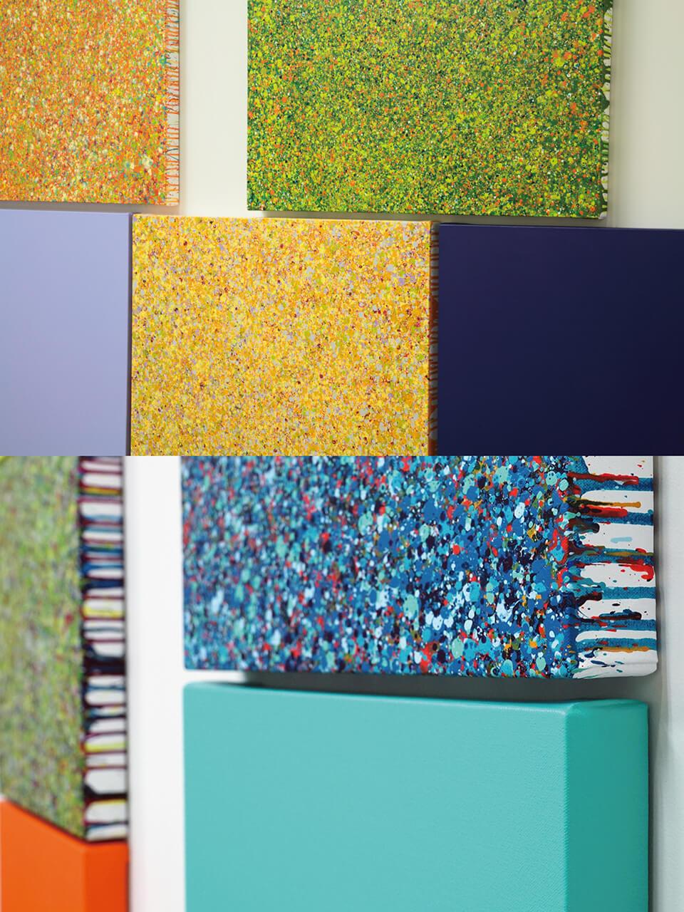「悲しき南回帰線 tristes tropiques」<br /> 2014-15<br /> 72.7×72.7×4.5cm details<br /> acrylic on canvas