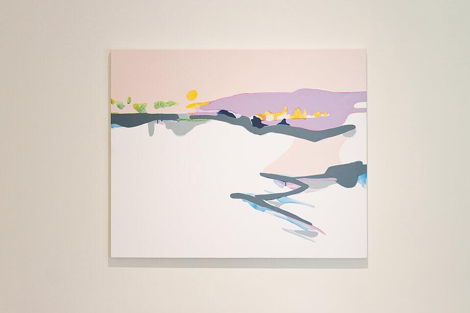 「僕は毎晩、2時間旅をする」<br /> Travering for 2h every night<br /> 2011<br /> 60.6×80.3×3cm<br /> acrylic on canvas