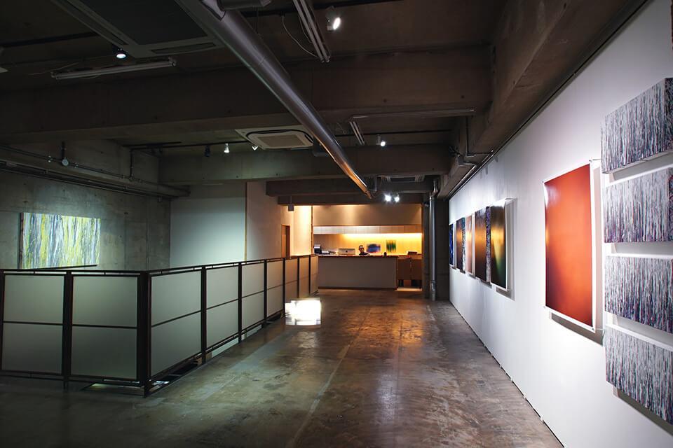 「High-Light Scene」<br /> 2016<br /> 大洲 大作/竹中 美幸/中島 麦/平田 剛志(企画)<br /> Exhibition site view<br /> Gallery PARC/京都