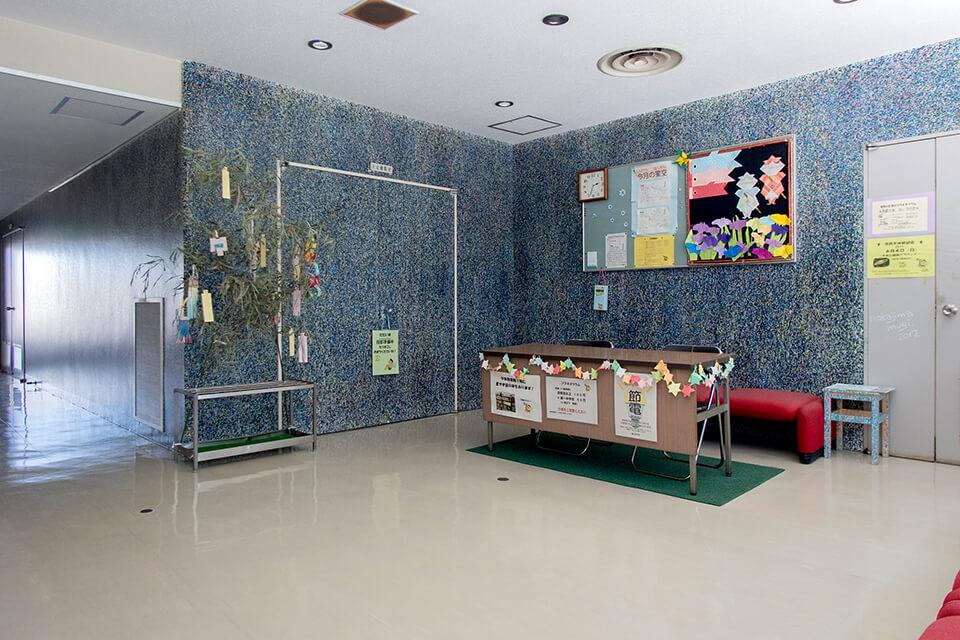 「WM」<br /> 2016-17<br /> acrylic direct on wall<br /> 茨木市役所合同庁舎7階 プラネタリウム/大阪