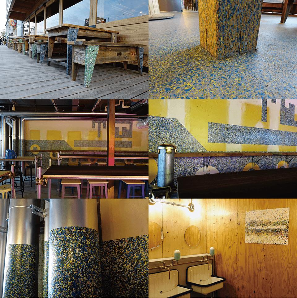 [Commission art work]<br /> TUGBOAT_TAISHO <br /> 2019<br /> 館内各所にペインティング/商業施設<br /> 大阪<br /> design:muura